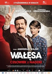 Poster advertising Andrzej Wajda's new film Walesa: Man of Hope.